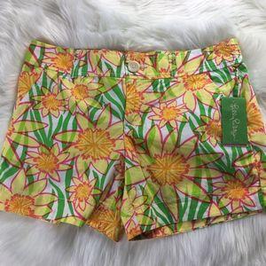 Lilly Pulitzer Callahan Floral Shorts Womens NWT 4